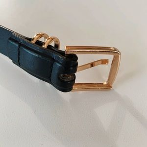 Accessories - Black and gold square belt